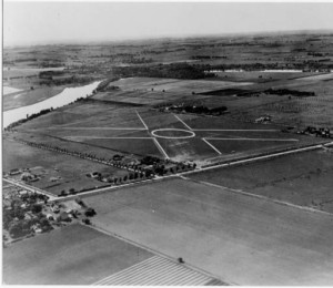 Aerial view of the Machesney Park Airport - circa 1927
